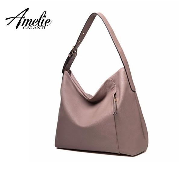 AMELIE GALANTI Half Moon женская сумка из мягкой искусственной кожи женские сумки модные однотонные сумки для женщин 2018 сумки через плечо