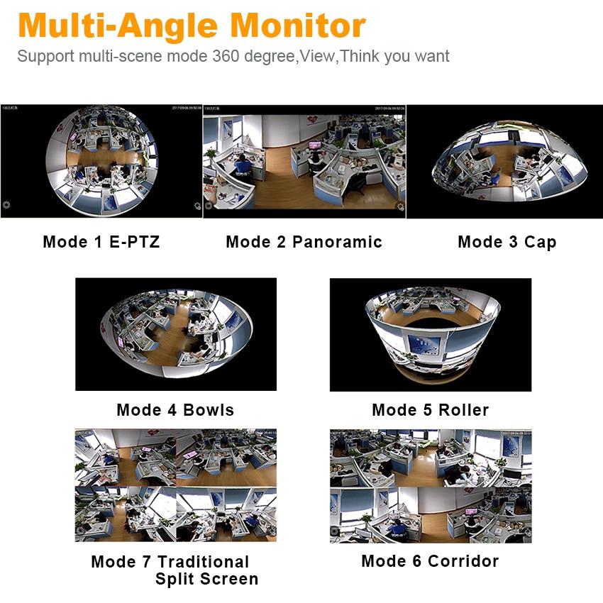 Smar 960P 3D VR WI-FI Camera 360 Degree Panoramic IP Camera 1.3MP FIsheye Wireless Wifi Smart Camera TF Card Slot Home Security