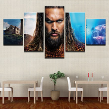 Wall Art Canvas Painting Justice League Movie Superhero Aquaman God of War Ascension Pictures Home Decor Prints Abstract Posters(China)