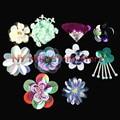 5 pçs/saco, Correções Feitas À Mão vidro/resina, strass cristal de roupas applique frisado lantejoulas flores mão costurar ou cola, H52-H61