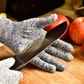 1 pair  Gray Cut Resistant Gloves  Safty Gloves for Hand protection working glove cooking glove factory supply