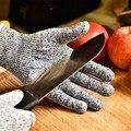 1 par Cinza Luvas de Luvas Resistentes Ao Corte Luvas de Segurança para proteção das Mãos luva de trabalho luva de cozinha de fornecimento de fábrica