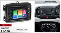 fit for FIAT 500L 2012+ Android 8.0 car dvd player with canbus head unit tape recorder multimedia stereo gps navigation device