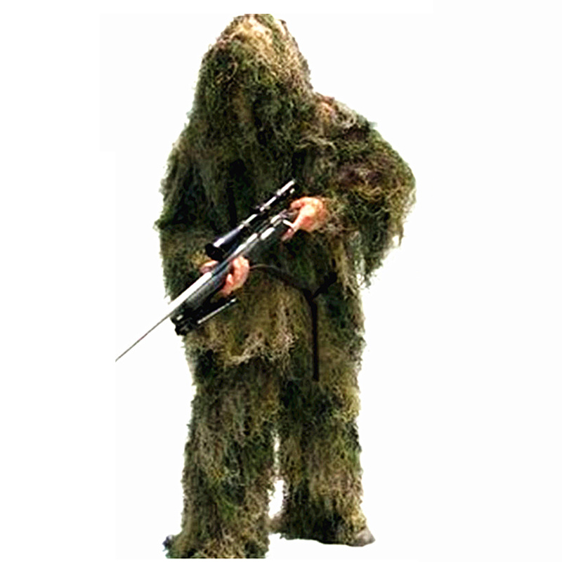 Camouflage chasse Ghillie costumes 3D Bionic Airsoft uniforme Sniper chasse vêtements Sportswear Ghillie costumes vêtements pour la chasse