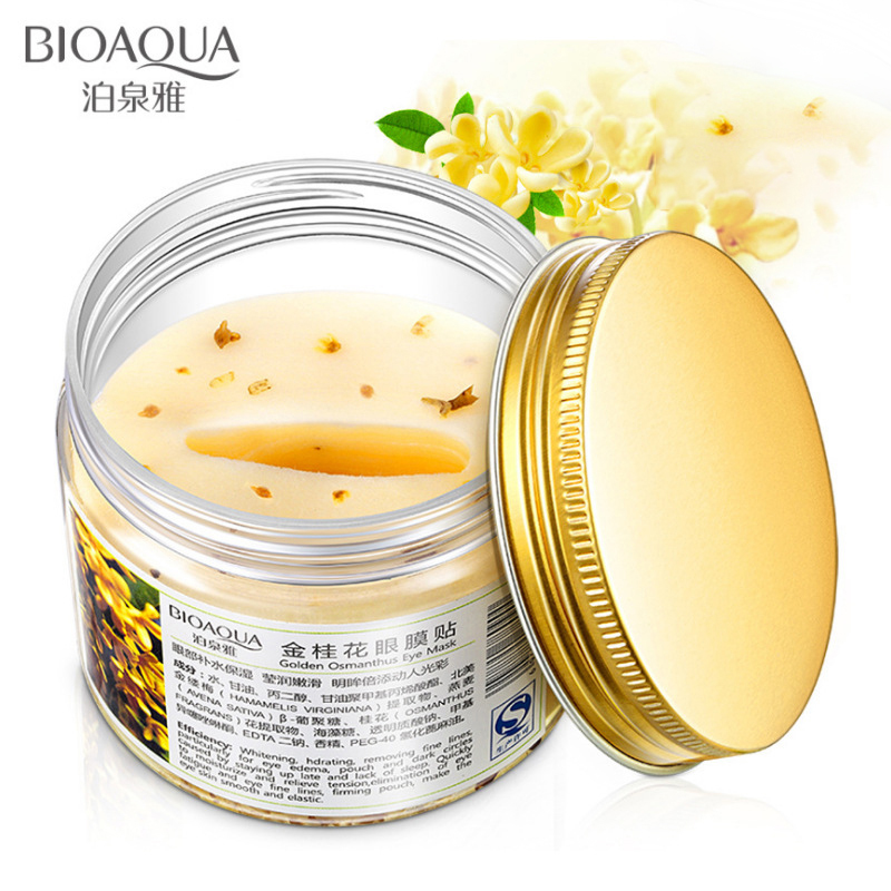 BIOAQUA Gold Osmanthus Eye Mask 80 Pcs/ Bottle Eye care Collagen gel Whey Protein Sleep Patche Remover dark Circles Eye Bag 1