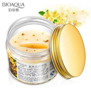 BIOAQUA maseczka na oczy złoty osmantus 80 sztuk/butelka pielęgnacja oczu żel kolagenowy serwatka Protein Sleep Patche Remover ciemne koła Eye Bag