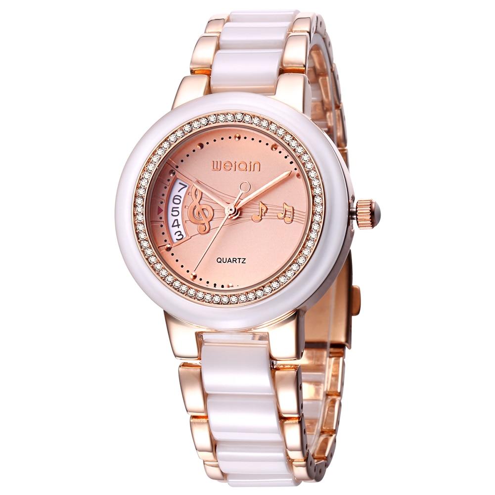WEIQIN Women Watches Date Fashion Rhinestone Rose Gold Wrist Watch Business Dress Quartz Ladies Watch Clock Relogios Feminino стоимость