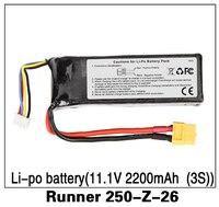 100% Original Walkera Runner 250 Advance Battery /250(R) Battery 11.1V 2200mAh 3S battery Runner 250 Z 26|3s battery|battery 11.1v|runner 250 -