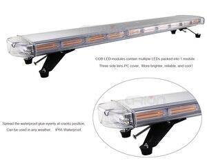 """Image 4 - 47 """"COB LED سقف السيارة وامض ستروب قضيب الإضاءة للطوارئ تيار مستمر 12 فولت 24 فولت شاحنة الشرطة اطفاء تحذير أضواء ضوء بار العنبر"""