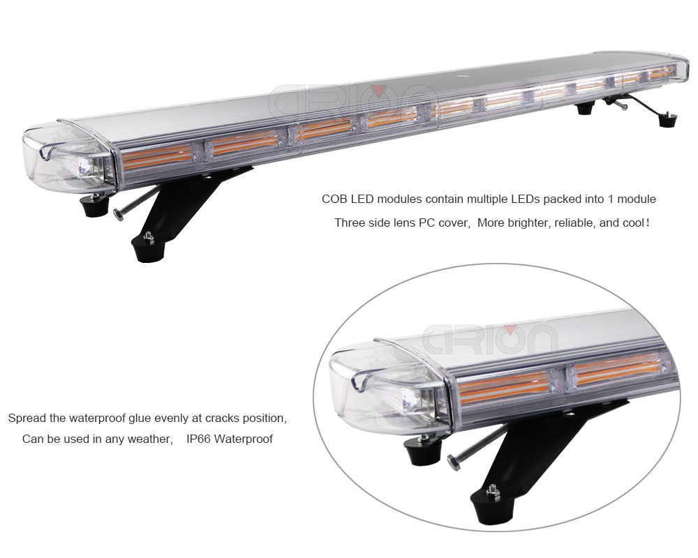 """47 """"COB светодиодный автомобильный мигающий устанавливаемый на крышку Стробоскопическая Лампа аварийного освещения бар DC 12 В 24 в грузовик полицейские, пожарные сигнальные огни светлый янтарь"""