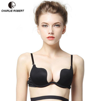 Size A D Women S Fashion Deep V Neck Sexy Seamless One Piece Invisible Underwear Push