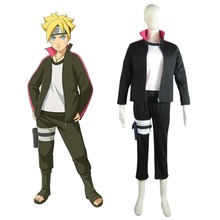 Boruto Naruto the Movie Uzumaki Boruto Sweater Anime Cosoplay Costume Halloween Costume for Men Custom Made