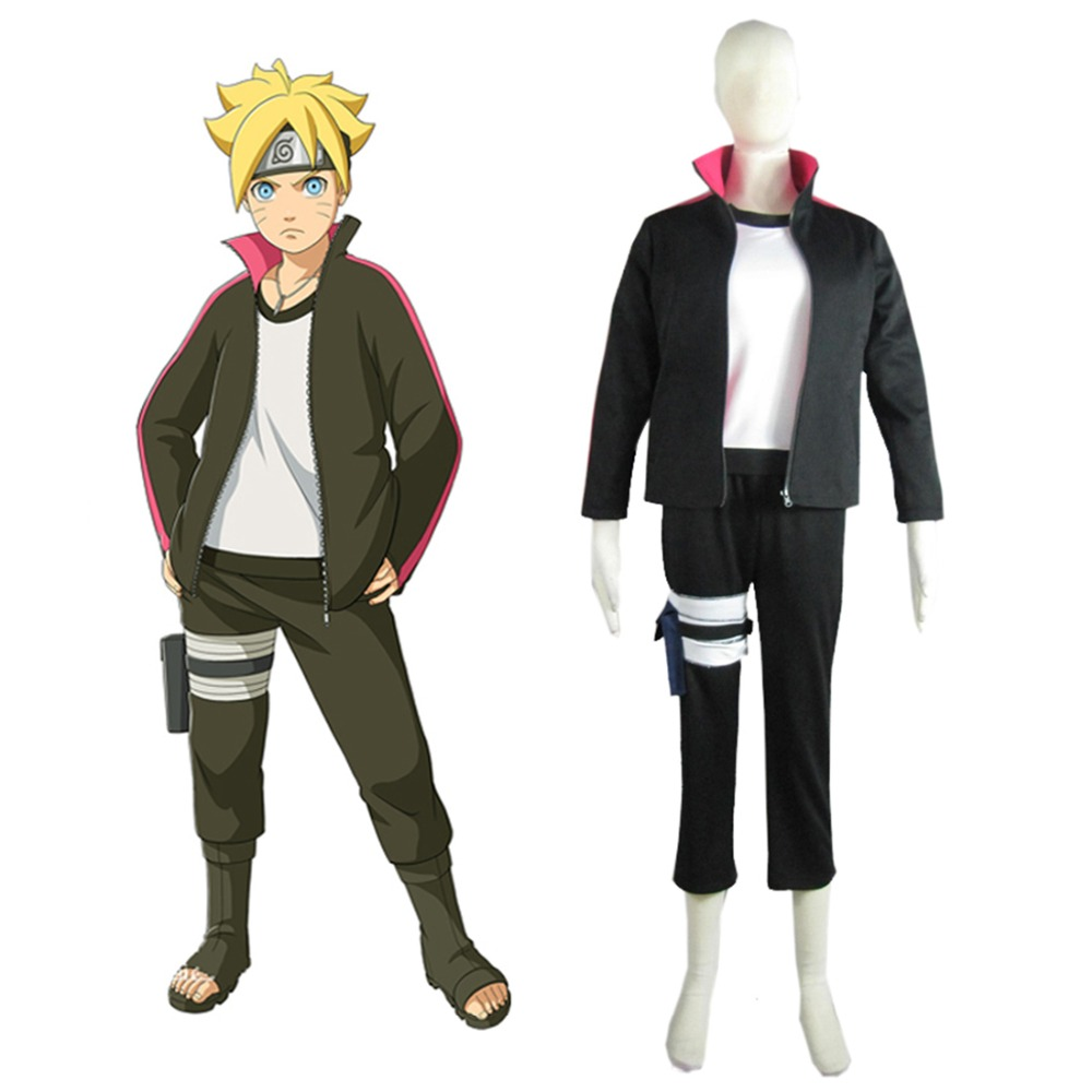 Boruto Naruto the Movie Uzumaki Boruto font b Sweater b font Anime Cosoplay Costume Halloween Costume
