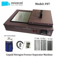 DHL Бесплатная доставка Novecel F07 ЖК экран морозильник с жидким азотом сепаратор машина со встроенным насосом + 10л бак + формы + колодки