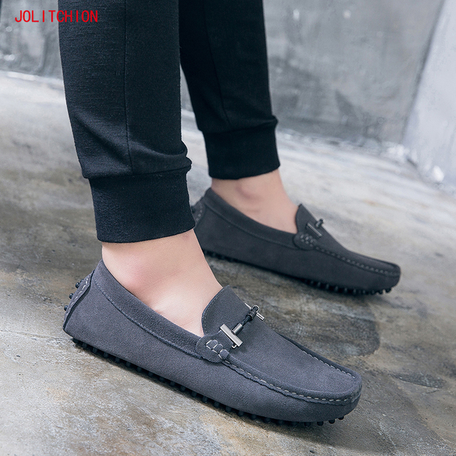 New Fahion Brand Men Loafers  Men's Casual Shoes Suede Leather Mocassim Masculino Breathable Slip on Boat Shoe Chaussures Hommes