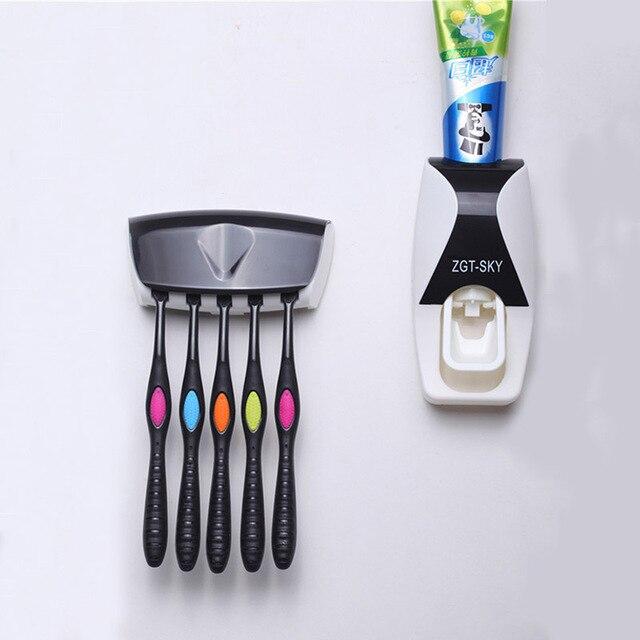 1 set di Modo Distributore Automatico di Dentifricio Famiglia Titolare 5 Spazzol
