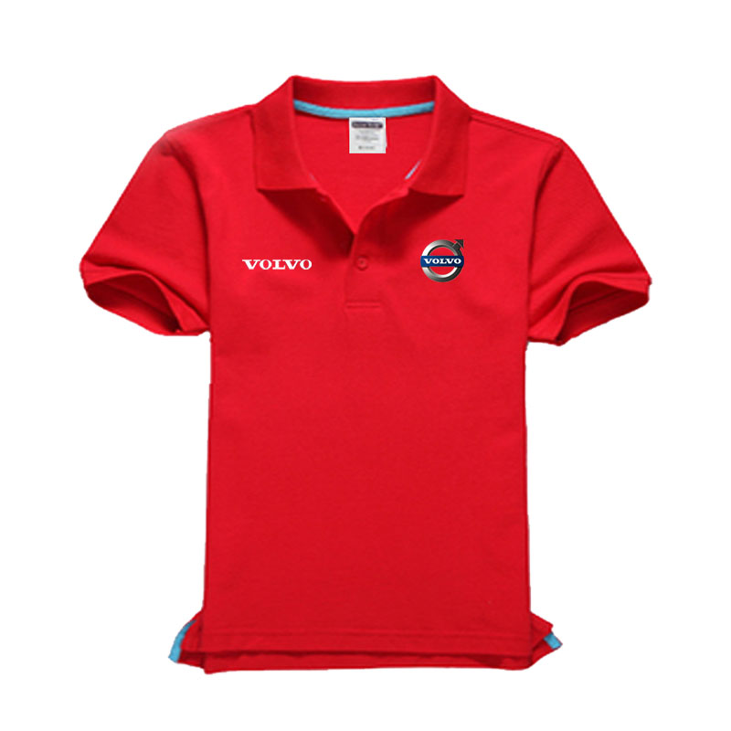 Brand clothing Volvo logo   Polo   Shirt Casual solid male   polo   shirt Short Sleeve High quality