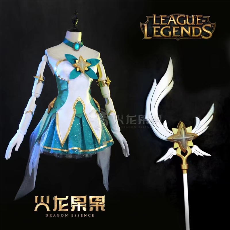 Game Cosplay LOL Star Guardian Magic girl Luminosity Soraka Cosplay Costume Women Dresses 2017 New Available Christmas Dress image