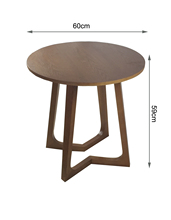 Solid wood coffee table sofa side a few corner simple mini small roundtable round teasideend