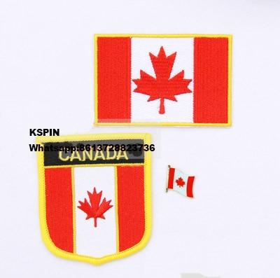 Canada drapeau patch badge 3 pcs un Ensemble Livraison Gratuite dans ...