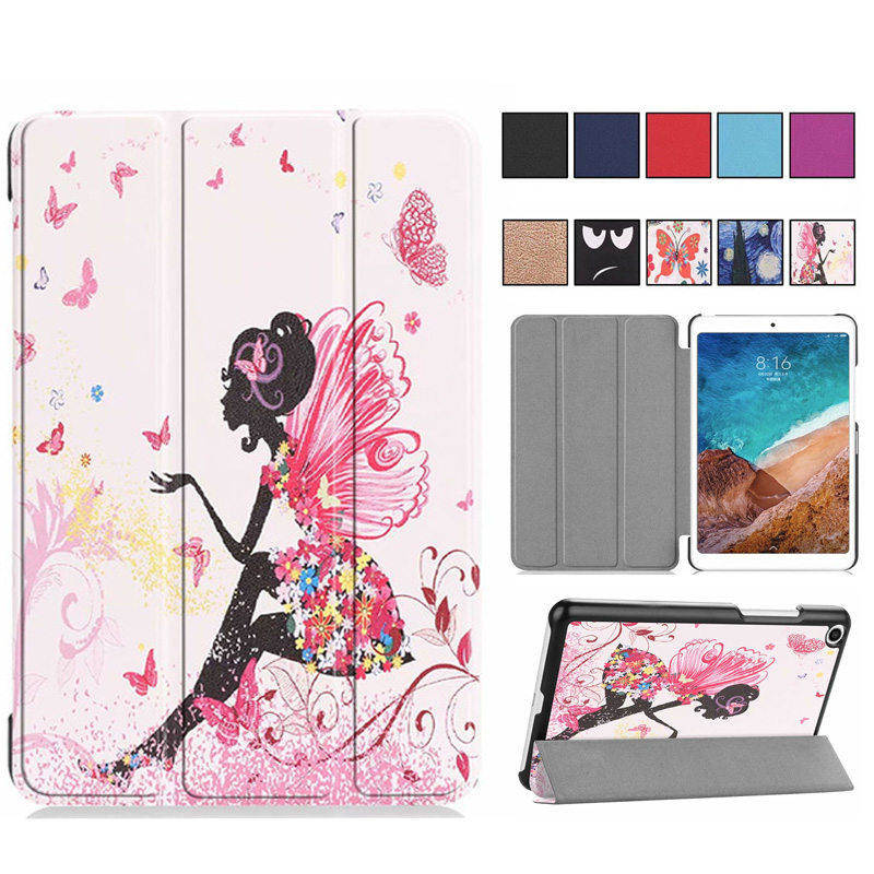 Flip Slim PU Leather Case For Xiaomi Mipad4 8 Inch Tablet Case Mi Pad 4 Stand Smart Painted Funda Cover Capa