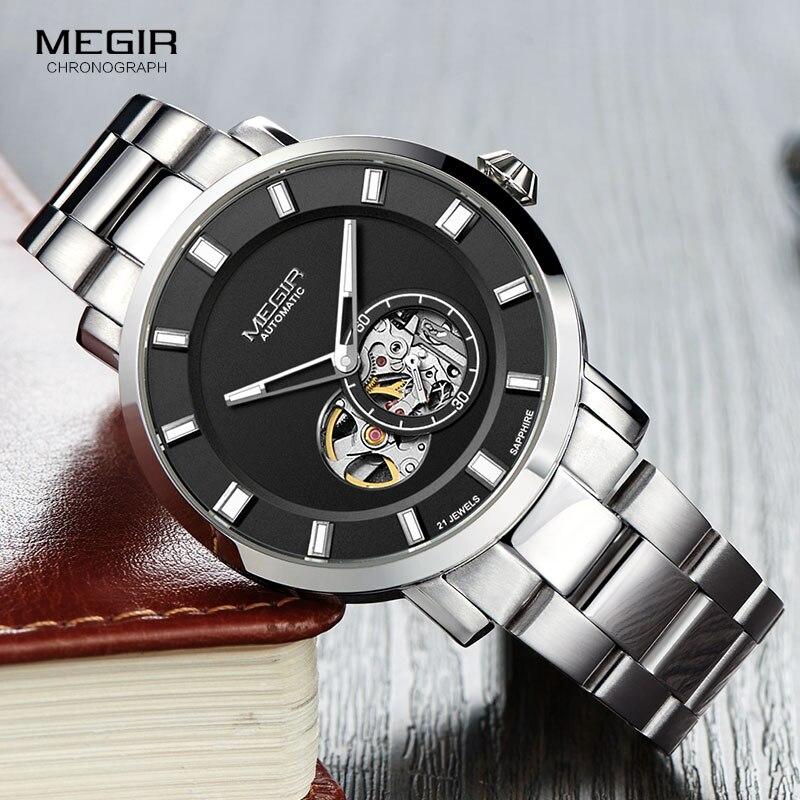 MEGIR hommes d'affaires mécanique main vent montres Top marque de luxe montre-bracelet pour homme Relogios Masculino Relojes de Hombre 62052