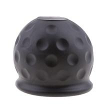 50mm towbar do carro towball plástico tampa de reboque bola reboque capa protetora preto acoplamento & acessórios