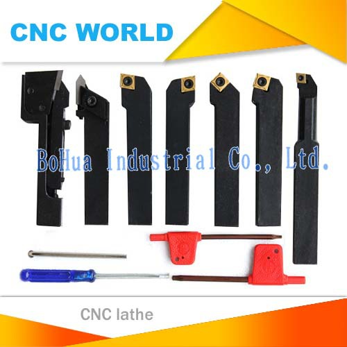 7pcs Set 12x 12mm CNC Lathe Turning Tool Holder W// DCMT TCMT CCMT Cutting