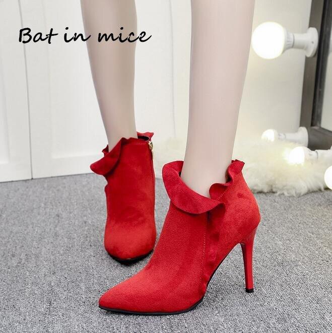 Black Derss Otoño dark Botas Nuevo Moda Mujeres Invierno Zapatos Casual Green Cremallera Bombas Altos red Mujer Tacones W264 q6wCxp7