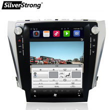 "SilverStrong 12.1"" IPS Screen Android7.1 32GB Tesla Screen Car GPS For Toyota Camry 2012-2015 support JBL amp AC climate"
