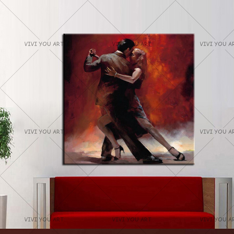 Spain Flamenco Tango dancer 20x20 inch painting Salsa decor art decoration