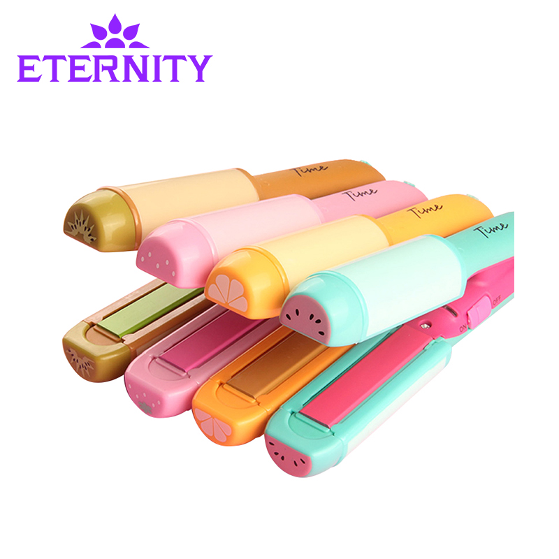 Eternity Mini Electric Hair Straightener Splint& hair curler 2 in 1 with Flat Iron Straightening Irons Styling Tools