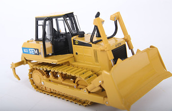 Collectible Diecast Toy Model Gift 1:35 Scale CATERPILLAR SEM 822 TRACK TYPE TRACTOR BULLDOZER Engineering Vehicles Decoration