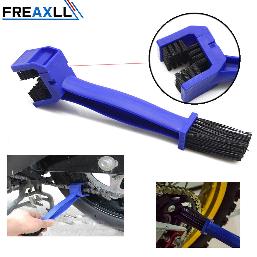 For Honda CRF450R <font><b>CRF</b></font> <font><b>450</b></font> R 2002-2016 CRF450X Universal Motorcycle Chain Maintenance Cleaning Brush Brush Cycle Brake Remover image