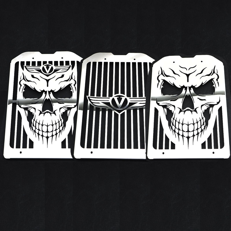 Radiator Grill Grille Guard Tank Cooler Cover For Kawasaki Vulcan VN1500 VN1600 Mean Streak 2002 2008