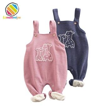 Winter Warm Baby Fall Diaper Bib Pants With Welvet Boys Girls Long Cotton Full Bloom Trousers Leggins Infant Baby Leggings Fills