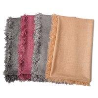 Супер Большие размеры 100% овечьей шерсти клип пряжи толстый Женская мода шарф шаль пашмины 120x200 см 4 стороны;