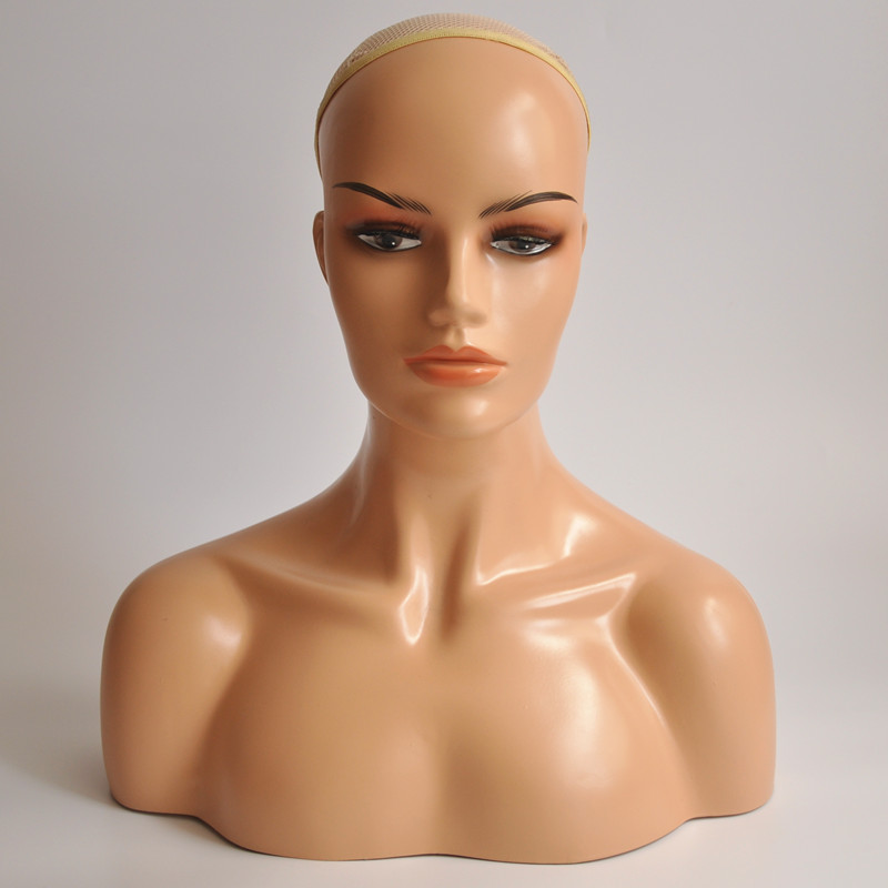 New Female Realistic Mannequin Head Fiberglass Jewelry And Hat Display Glasses Mold Stand new 2pcs female right left vivid foot mannequin jewerly display model art sketch