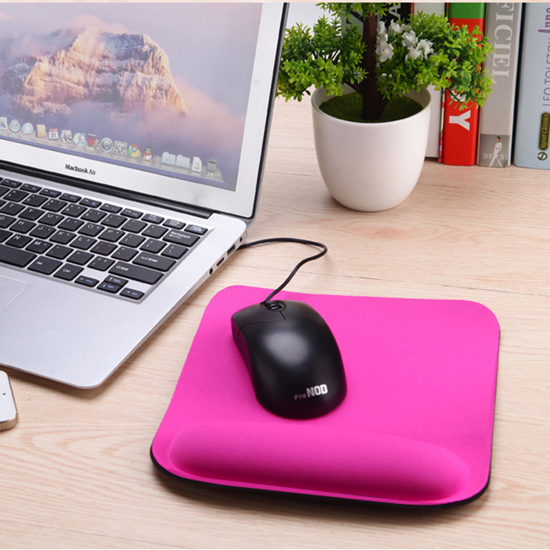 2017 Ny Thicken Square Comfy Wrist Mouse Pad for Optisk / Trackball Mat Mus Mus Pad Computer
