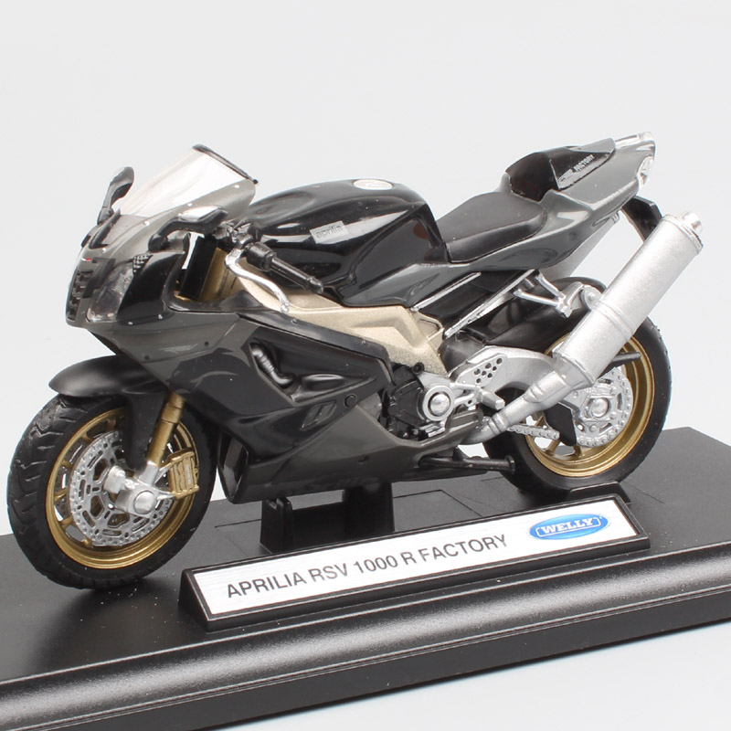 Children's 1:18 Scale Welly APRILIA RSV 1000 Factory Sport Racing Bike Motorcycle Diecast Vehicle Model Miniatures Moto Cars Toy