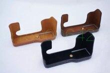 Для Fujifilm Fuji XT10 X-T10 XT20 XT-20 из искусственной кожи Камера половина сумка набор для тела Нижняя крышка легко вынуть батареи