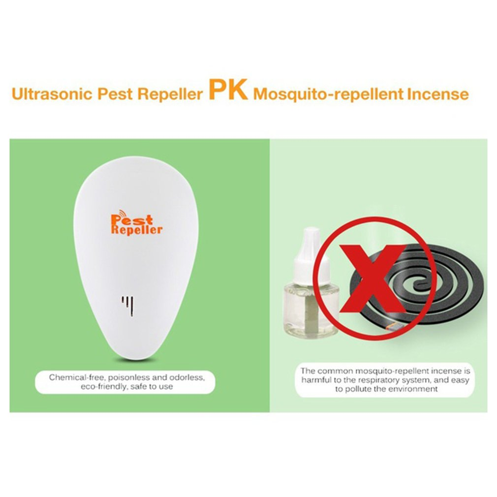 Ultrasonic Electronic Pest Repeller Adjustable Frequency Insect Trap  Mosquito Repellent Rats Spiders Flea Pest Control Device