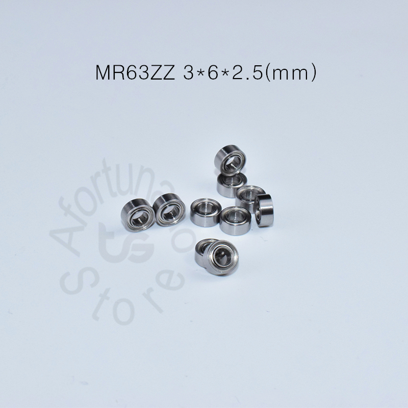 MR63ZZ 3*6*2.5(mm) 10pieces Bearing Metal Sealed Free Shipping ABEC-5 Chrome Steel Miniature Bearing Hardware Transmission Parts