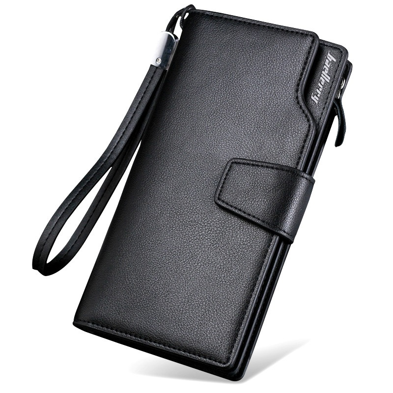 2019 Fashion Top Quality Leather Long Wallet Men Purse Male Clutch Zipper Around Wallets Men Women Money Bag Pocket Mltifunction