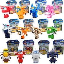 13 estilos super asas figura de ação brinquedos mini avião robô superwings transformação anime dos desenhos animados brinquedos para crianças de presente