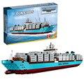 Maersk Line Lepin 22002 Técnica de Tres E Barcos Modelo Ladrillos de Construcción, Bloques de Juguetes de Regalo Juguetes para Niños Boy ecudational 10241