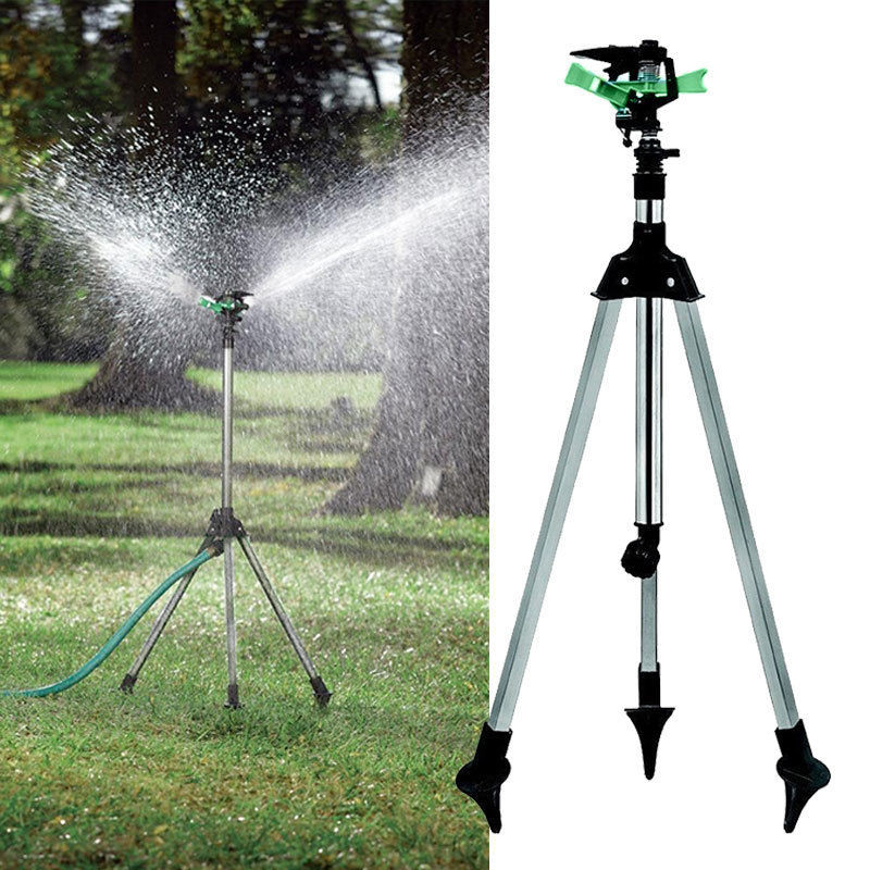 Tripod Impulse Sprinkler Pulsating Telescopic Watering Lawn Yard and Garden