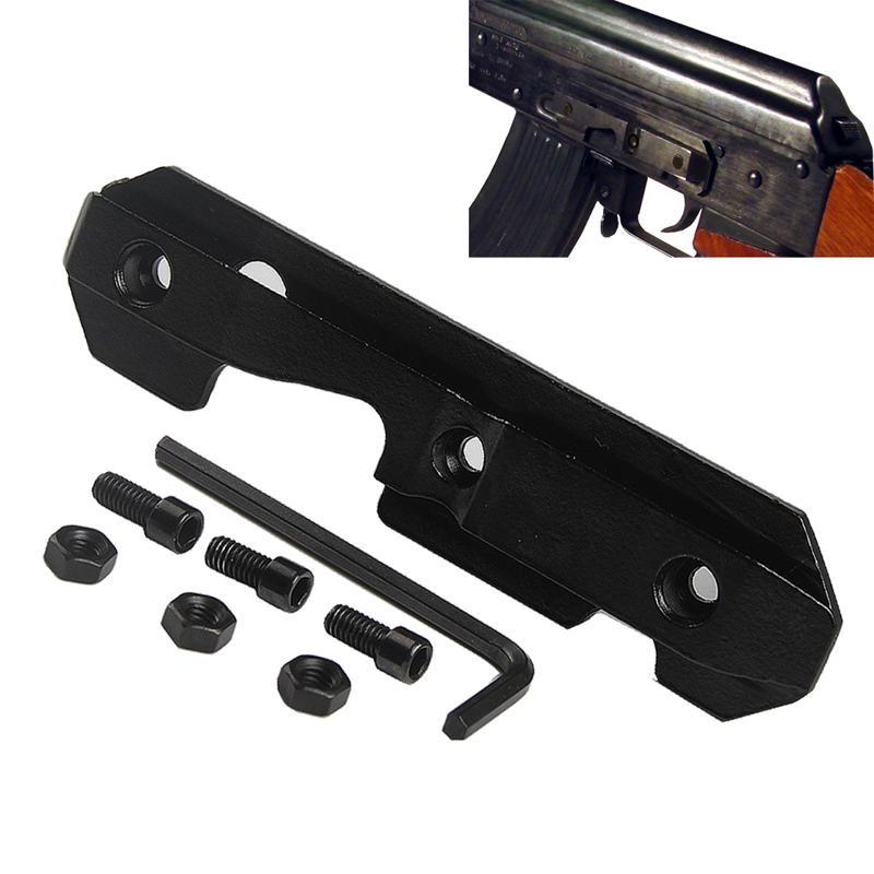 Tactical Steel Dovetail Side Plate Fits Stamped Milled Receiver for AK/Saiga Airsoft Wrench Hunting Rifle AK47Scope Mount 2-0032Tactical Steel Dovetail Side Plate Fits Stamped Milled Receiver for AK/Saiga Airsoft Wrench Hunting Rifle AK47Scope Mount 2-0032