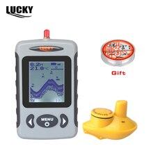 Russian Menu Wireless Sonar Portable Fish Finder Sensor Echo Sounder Detector Alarm River Lake Sea Bed Live 131ft/40M
