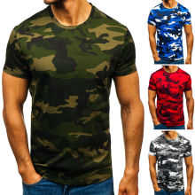 E-BAIHUI New Summer Fashion camouflage t-shirt men Casual O-neck Cotton streetwear t shirt Men Gym Short Sleeve Tshirt tops G008
